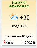 Погода на завтра в аликанте
